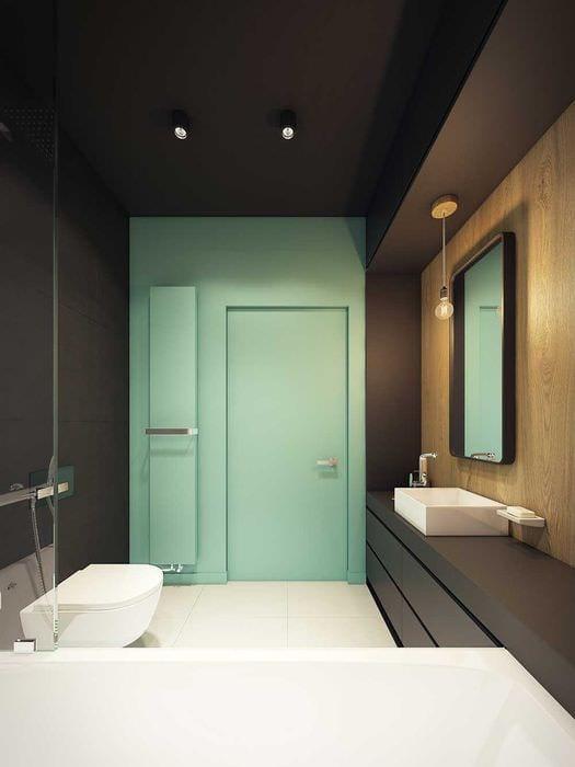 идея красивого интерьера ванной 6 кв.м
