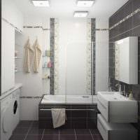 вариант яркого дизайна большой ванной комнаты фото