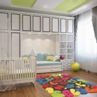 вариант красивого стиля детской комнаты фото