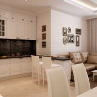 вариант светлого интерьера квартиры в светлых тонах в современном стиле фото