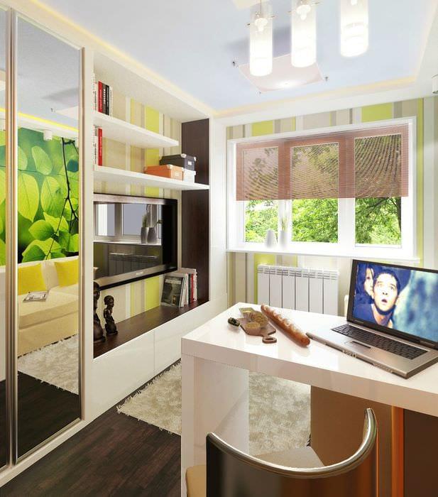 идея яркого стиля небольшой гостинки