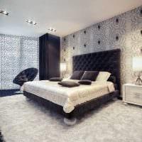 вариант красивого стиля спальни в белом цвете фото