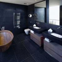вариант современного дизайна ванной комнаты 2017 фото