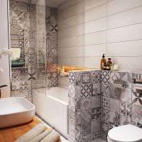 идея красивого стиля ванной 3 кв.м картинка