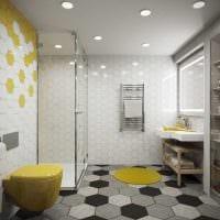 идея яркого дизайна ванной комнаты 6 кв.м фото
