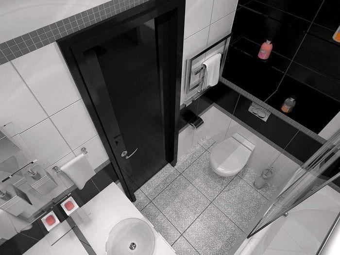 88 идей для ванной в черных тонах 1