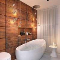 идея необычного дизайна ванной с окном картинка