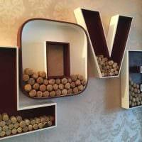 вариант применения декоративных букв в интерьере квартиры картинка