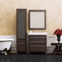 идея сочетания насыщенного коричневого цвета в дизайне кухни картинка
