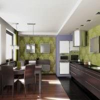 идея сочетания насыщенного коричневого цвета в стиле гостиной фото