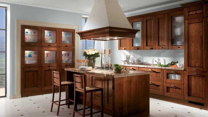 идея сочетания светлого коричневого цвета в дизайне гостиной