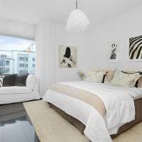 идея яркого дизайна спальни в белом цвете картинка