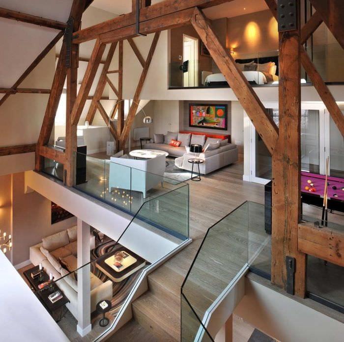идея яркого стиля дома со вторым светом