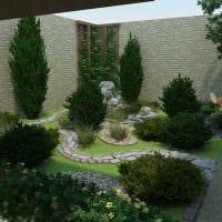 вариант современного дизайна двора картинка