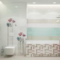 идея яркого стиля ванной комнаты 2017 картинка