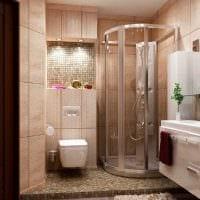 вариант красивого интерьера ванной 3 кв.м фото