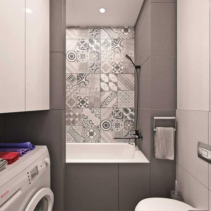 вариант современного дизайна ванной комнаты 4 кв.м