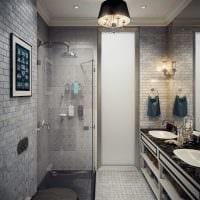 вариант современного интерьера ванной комнаты 6 кв.м картинка