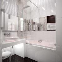 идея современного дизайна ванной 6 кв.м фото