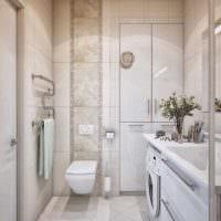 идея яркого стиля ванной комнаты 3 кв.м фото