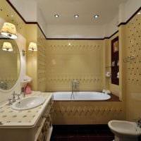 вариант яркого дизайна ванной 4 кв.м картинка
