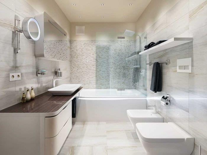 вариант необычного стиля ванной комнаты 6 кв.м