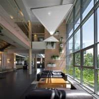 идея современного интерьера дома со вторым светом фото