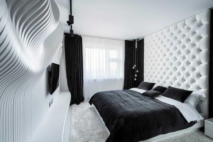 идея яркого стиля белой спальни