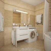 идея яркого интерьера ванной 6 кв.м фото