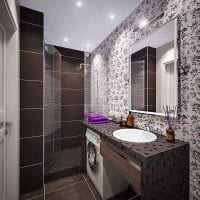 вариант современного интерьера ванной 3 кв.м картинка