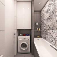 вариант яркого стиля ванной комнаты 6 кв.м фото