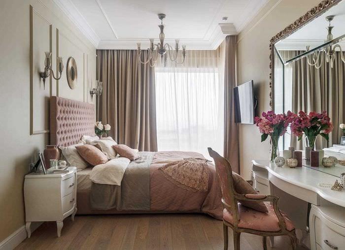 идея красивого интерьера комнаты в стиле современная классика