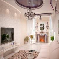 вариант красивого декора квартиры в стиле современная классика картинка