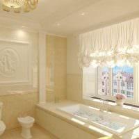 идея красивого дизайна ванной в классическом стиле картинка