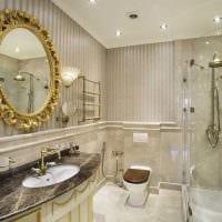вариант необычного интерьера ванной комнаты в классическом стиле фото