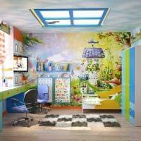 идея красивого дизайна детской комнаты фото