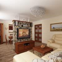вариант красивого интерьера современной квартиры 70 кв.м фото