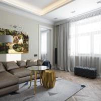 идея яркого интерьера комнаты в стиле современная классика фото
