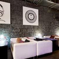 идея красивого интерьера ресторана в стиле лофт картинка