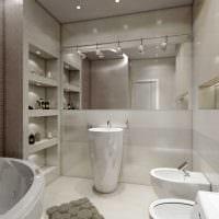 идея яркого стиля ванной комнаты в классическом стиле фото