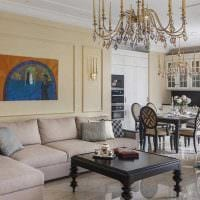 вариант светлого стиля квартиры в стиле современная классика фото