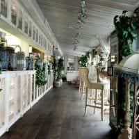 вариант красивого стиля ресторана в стиле лофт картинка