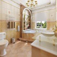 вариант необычного дизайна ванной в классическом стиле картинка