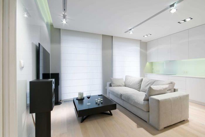 вариант яркого декора квартиры в светлых тонах в современном стиле