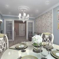 идея необычного дизайна комнаты в стиле современная классика фото