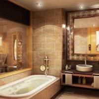 идея красивого стиля ванной комнаты в классическом стиле фото