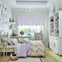 идея светлого интерьера детской комнаты для девочки картинка