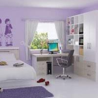 идея красивого стиля детской комнаты фото