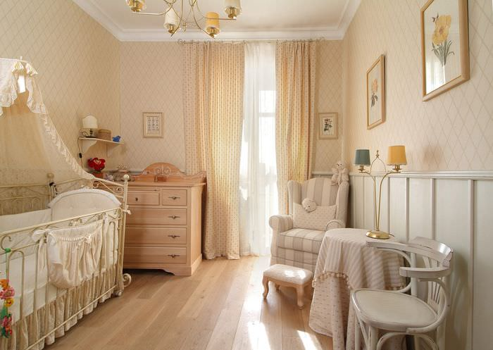 вариант красивого интерьера детской комнаты