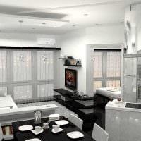 идея необычного стиля современной квартиры 70 кв.м картинка